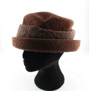 Vintage Kangol Boucle Hat Brown Large - 58cm Bucket