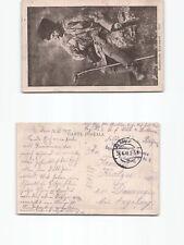 (b98339)   Ansichtskarte rumänische Volkstracht 1917 mit Feldartilleriestem