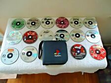 PlayStation Zip Up Carrying Case With 16 Total CDs PS Games / Other SEE PICS