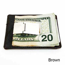 Leather Men's Slim Money Clip