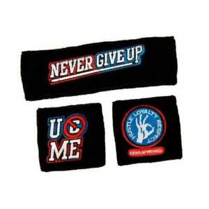 John Cena WWE Headband Wristband Sweatband Set