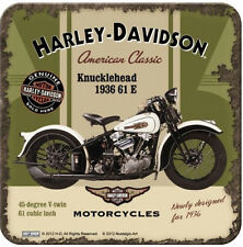 Nostalgic Art Metalluntersetzer Harley Davidson Knucklehead 9x9 #