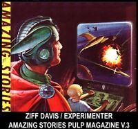 Gernsback SCI FI DVD AMAZING STORIES PULP MAGAZINES [3] Jules Verne Wells Allen