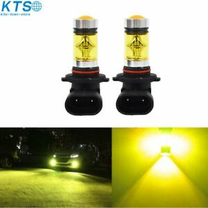 2X 9006 HB4 100W 2323 LED 4300K YELLOW Fog Driving Light Bulbs