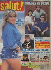 Salut ! n° 310 Août 1987 Samantha Fox, Mylène Farmer, Julie Pietri, Cecilia Noah