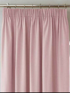 """3"""" CURTAIN TAPE  100% PLAIN COTTON CANVAS CURTAINS in Light Pink- 46"""" X 90"""""""