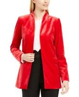 MSRP $149 Calvin Klein Long Velvet Blazer Red Size 6