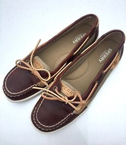 SPERRY TOP-SIDER (8) Angelfish Brown Leather Boat Deck Shoes