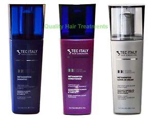 3 Bottles- Tec Italy Metamorfosi Shampoo, Conditioner & Leave in Cream Treatment