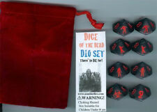Zombie Dice d10 with dice bag - Chessex