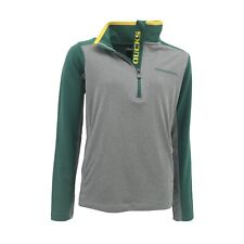Oregon Ducks Official NCAA Kids Youth Size Athletic Light Quarter Zip New Tags