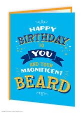 anniversaire carte de voeux humour drôle BRILLANT PAILLETTE Beards passionnés