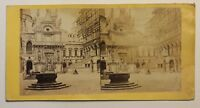 Venezia Palais Ducale Italia Foto Stereo P49p2n58 Vintage Albumina c1860