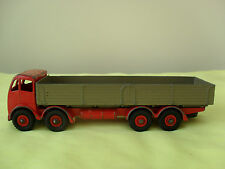 RARE DINKY SUPERTOYS,FODEN DIESEL 8 WHEELED WAGON,No 901,2ND TYPE CAB,RED/FAWN