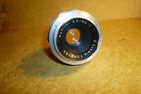 Objektiv lens Ludwig Meritar 2,9/50 red V for Exa / Exakta - clear optic !