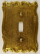 Vintage Brass Switch Plate - Single Toggle (NOS)