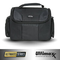 Padded Water Resistant Gadget Bag for Canon Nikon Sony Cameras (Black)