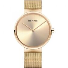 Ladies Bering Gold Stainless Steel Mesh Band Gold Dial Casual Watch 14539-333