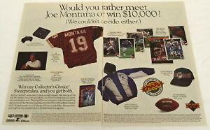 1994 two page Sega Genesis NFL 95 video game ad ~ JOE MONTANA