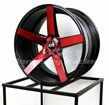 22X10.5 5X115 STR 607 BLACK W RED MADE FOR CHALLENGER DODGE HYUNDAI LOW OFF