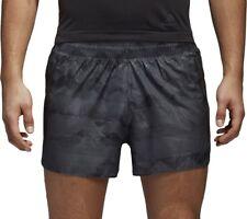 adidas Adizero Mens Running Shorts Grey Graphic Lightweight Run Split Short