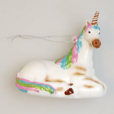 Einhorn liegend Weihnachtsbaumkugel Baumkugel Unicorn - Krebs Glas Lauscha