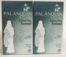 Green Tea Fennel x 2 by Palanquin Royal spiced tea blends, tea bags,