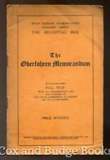 THE OBERFOHREN MEMORANDUM German Conservatives on the REICHSTAG FIRE 1933 1st