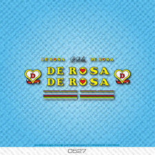 De Rosa Bicycle Decals - Transfers - Stickers - Yellow & Black Text - Set 0527