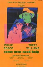"ANDY WARHOL POSTER ART PRINT  THEATER PRODUCTION ""SOME MEN NEED HELP"" 1982"