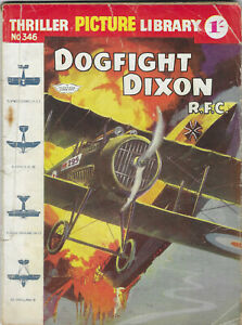"""Dated 1961. """"DOGFIGHT DIXON"""". Thriller Picture Library Comic #346."""