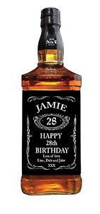 PERSONALISED JACK DANIELS WHISKEY BOTTLE LABEL - PARTY / BIRTHDAY / WEDDING