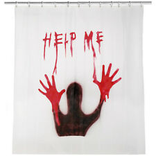 Halloween Horror Party Gore Bloody Help Me Shower Curtain Decoration