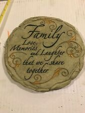 Spoontiques Family Stepping Stone Wall Plaque Indoor/Outdoor 9.5 x 0.6 x 9.3 in