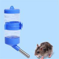 3Sizes Plastic Hanging Hamster Guinea Pig Rabbits Water Bottle Dispenser Feed mZ