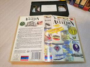 THE STORY OF AVIATION - Rare 1990 Castle Vision Australian Fascinating VHS Issue