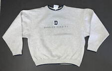Vintage 90's Duke University Sweatshirt Size Adult XL Gray