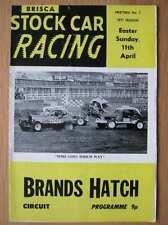 Stock Car Racing Programme Brands Hatch 11 April 1971 Promotasport