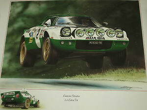 LANCIA STRATOS 2.4 LITRE V6 STUNNING RARE MOTORING-MAN CHRIS DUGAN ART