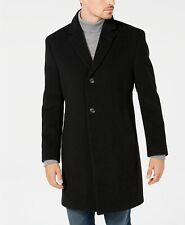 $400 Nautica Men's Barge Classic Fit Wool Cashmere Blend Solid Overcoat 36R