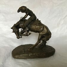 The Rattlesnake by Frederic Remington, authentic bronze replica of the original.