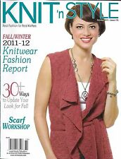 Knit 'N Style magazine Knitwear fashion Fall projects Scarf workshop Sweaters
