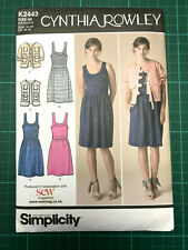 Dress & Jacket Sewing Pattern 6-14/32-40 Simplicity K2443 NEW & UNCUT C Rowley