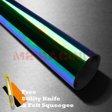 "12""x72"" Neo Chrome Dark Smoke Chameleon Tint Headlight Taillight Fog Vinyl"