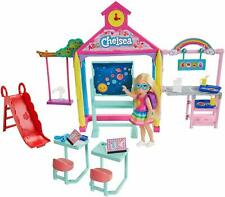 Barbie clubhouse Chelses Doll & School Playset,kids toy, swing,slide,accessories