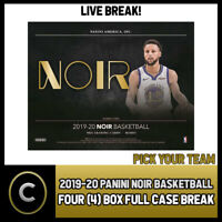 2019-20 PANINI NOIR BASKETBALL 4 BOX (FULL CASE) BREAK #B405 - PICK YOUR TEAM