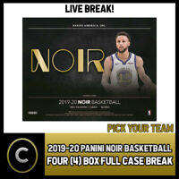 2019-20 PANINI NOIR BASKETBALL 4 BOX (FULL CASE) BREAK #B378 - PICK YOUR TEAM