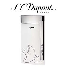 NEW ST Dupont Picasso Limited Edition White Dove Slim 7 Flat Flame Jet Lighter