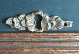 Vintage Solid Bronze Key Hole Keyhole Cover Furniture Drawer Escutcheon