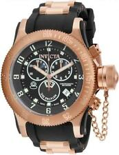 Invicta 15567 52mm Russian Diver Swiss Chronograph Date Black Dial Mens Watch